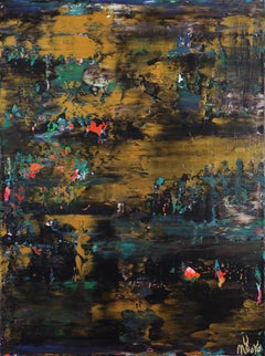 Nocturn panorama 7, Painting, Acrylic on Canvas