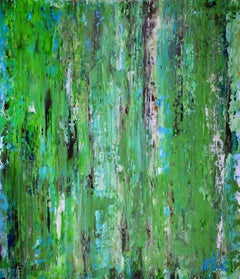 Pastures in late spring (2018), Painting, Acrylic on Canvas