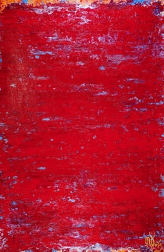 Petrified Red, Painting, Acrylic on Canvas