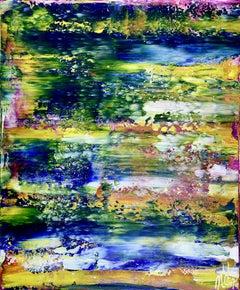 Rio azul infinito (Infinite blue river), Painting, Acrylic on Canvas