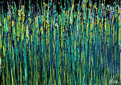 Shimmer and brezze graden 2, Painting, Acrylic on Canvas