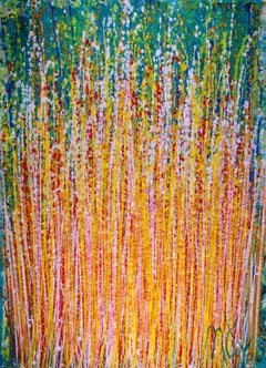 Shimmering Frequencies 3, Painting, Acrylic on Canvas