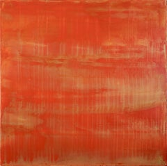 Sunset paradise 5 (Metallic Orange Spectra), Painting, Acrylic on Canvas