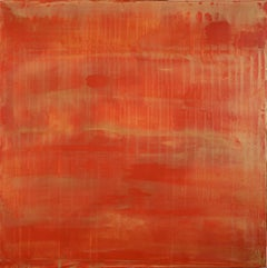 Sunset paradise 6 (Metallic Orange Spectra), Painting, Acrylic on Canvas