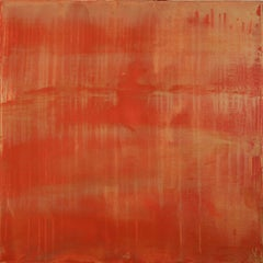Sunset paradise 7 (Metallic Orange Spectra), Painting, Acrylic on Canvas
