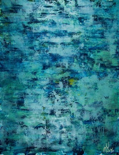 The deepest ocean (Turquoise spectra) 2, Painting, Acrylic on Canvas