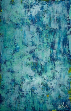 The deepest ocean (Turquoise spectra), Painting, Acrylic on Canvas