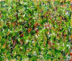 Verdor ( Green regrowth), Painting, Acrylic on Canvas