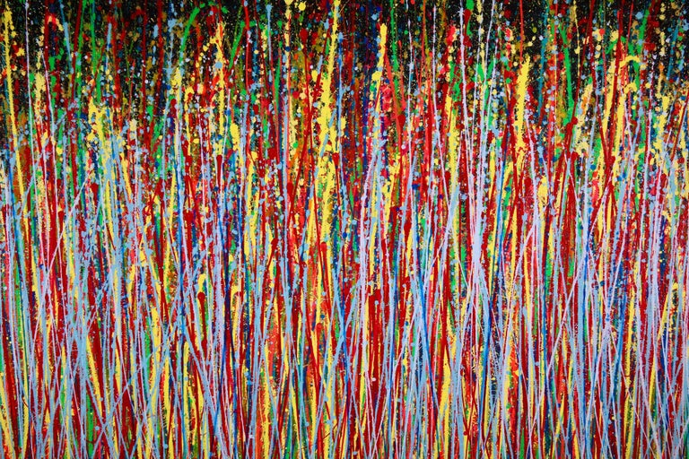 Wonder Garden, Painting, Acrylic on Canvas - Brown Abstract Painting by Nestor Toro