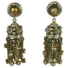 Nettie Rosenstein Sterling Vermeil Tassel Earrings