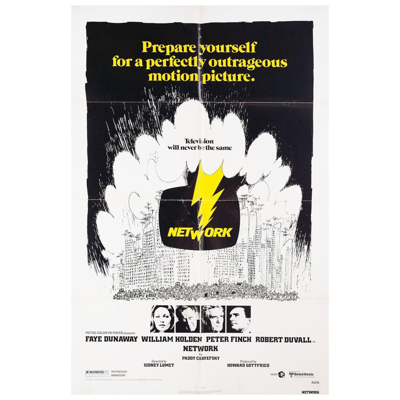 """Network"" 1976 U.S. One Sheet Film Poster"