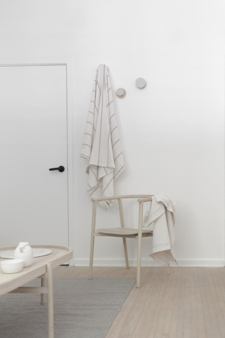Modern Neutra ash carved wood Chair For Sale