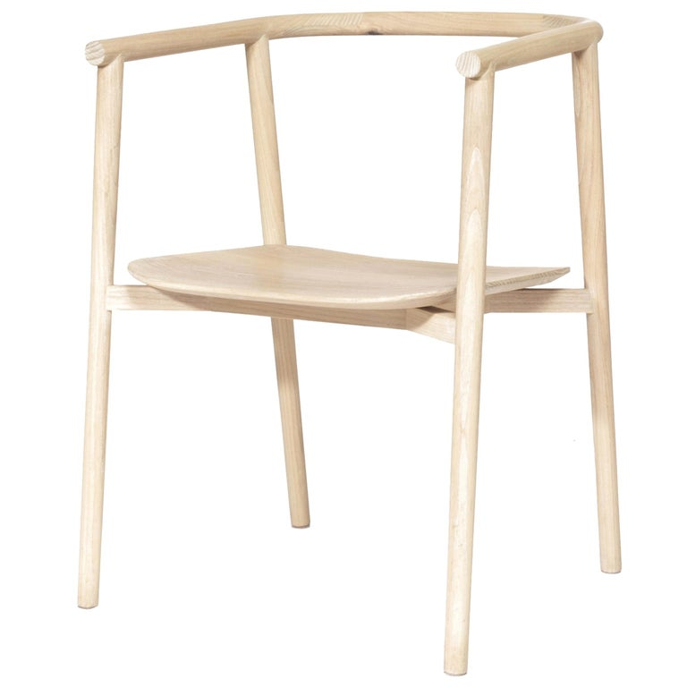Neutra ash carved wood Chair For Sale