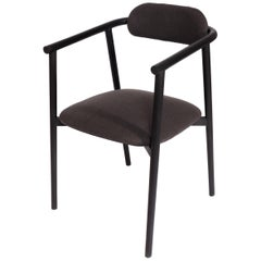 Neutra Oak Inked Chair with Upholstery Backrest and Seat