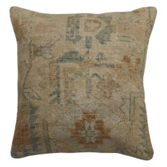 Neutral Antique Persian Rug Pillow