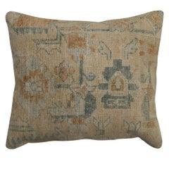 Neutral Antique Persian Rug Pillow