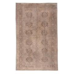 Neutral Antique Turkish Oushak Carpet