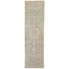 Neutral Color Antique Persian Malayer Runner