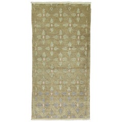 Neutral Color Turkish Scatter Rug, Mid-20th Century