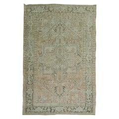 Neutral Heriz Antique Persian Wool Rug