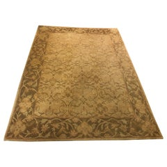 Neutral Luxurious Silk Tibetan Area Rug