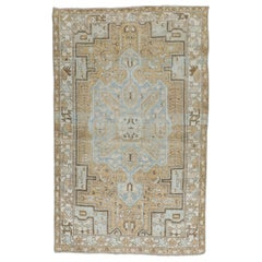 Neutral Persian Accent Size Vintage Rug