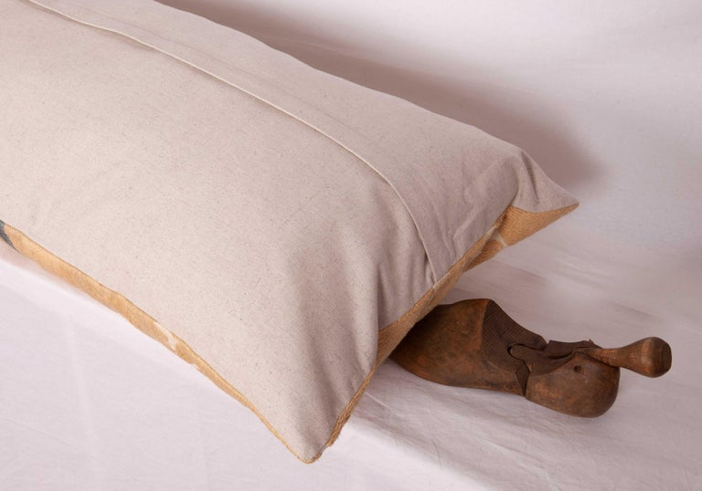 Neutral Suzani Lumbar Pillow Case Made from a Mid-20th Century Suzani For Sale 1