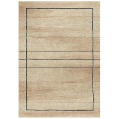 Neutral Tone Wool and Silk Rug from Scandinavian Collection by Gordian