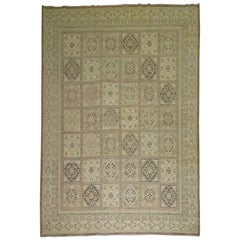 Neutral Vintage Room Size Khotan Rug