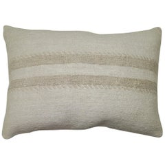 Neutral Vintage Turkish Kilim Pillow