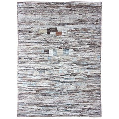Neutrals, Charcoal, Gray and Brown Diamond Afghan Modern Geometric Design Rug