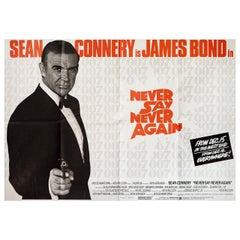 Never Say Never Again 1983 British Quad Film Poster