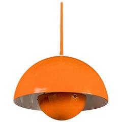 Never Used 1970s Verner Panton Enamel Flowerpot Pendant Light in Original Box