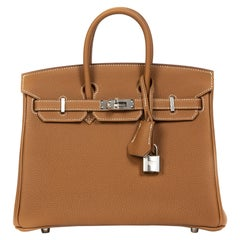 Never Used Hermes Birkin 25 Gold