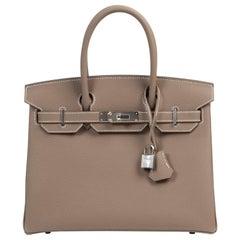 Never Used Hermès Birkin 30 Etoupe Togo PHW