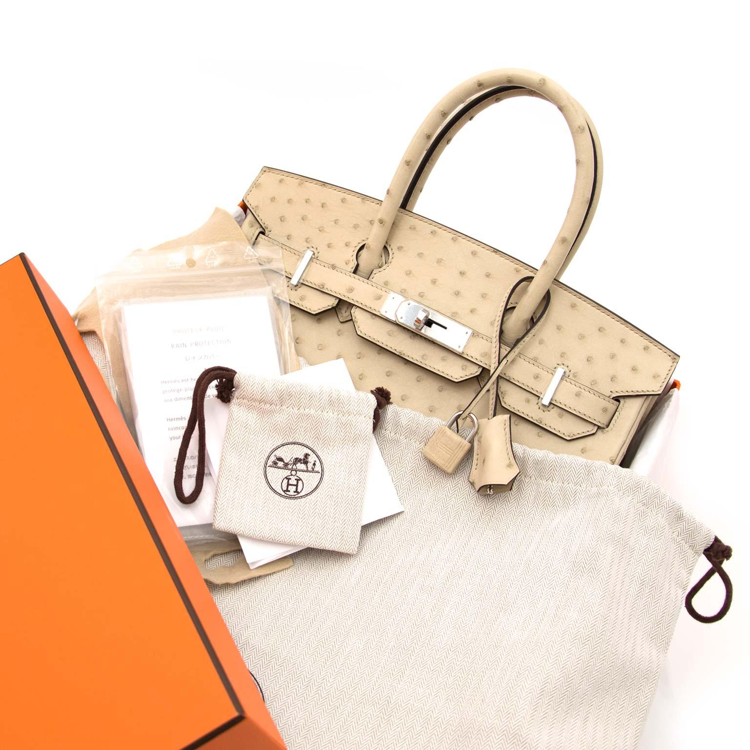 73a37fe1125 Never Used Hermes Birkin 30cm Parchemin Ostrich PHW at 1stdibs