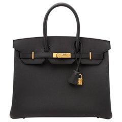 *NEVER USED* Hermès Birkin 35 Epsom Black GHW
