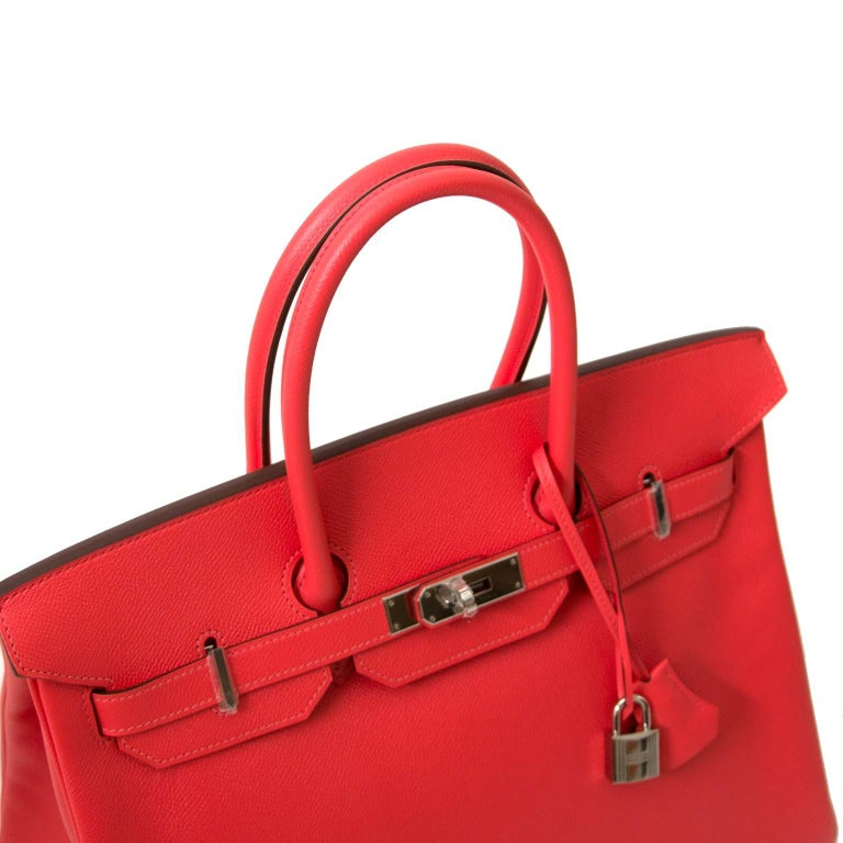 Never Used  Hermès Birkin 35 Epsom Rose Jaipur PHW In New Condition For  Sale 1da5dec3e9707