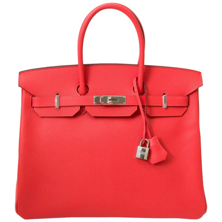 Never Used  Hermès Birkin 35 Epsom Rose Jaipur PHW For Sale. Brand New ... ad7f34f021058