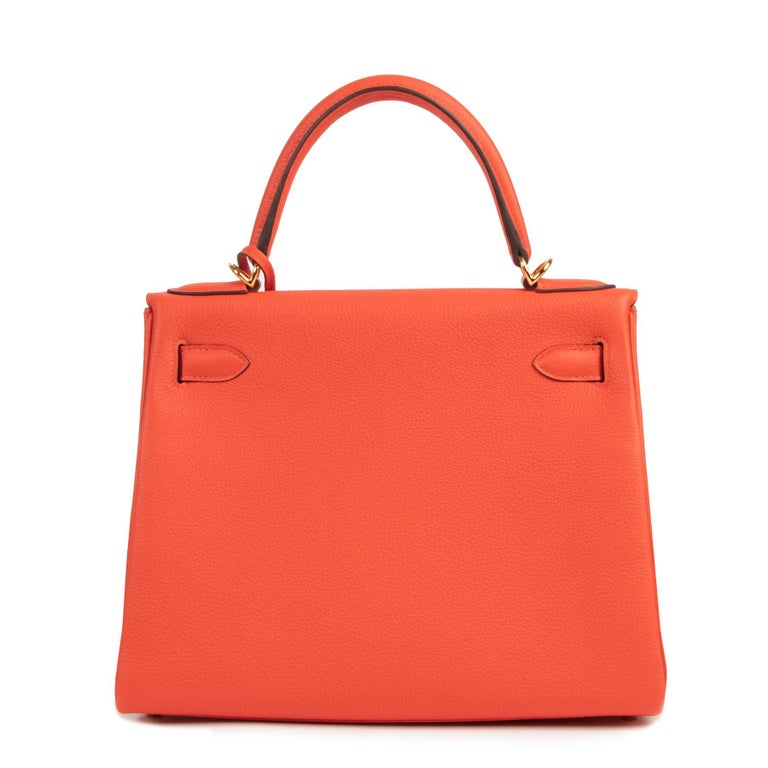 *Never Used* Hermes Kelly 28 TogoCapucine GHW In New Condition For Sale In Antwerp, BE
