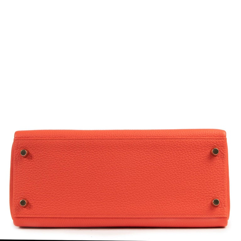 *Never Used* Hermes Kelly 28 TogoCapucine GHW For Sale 1