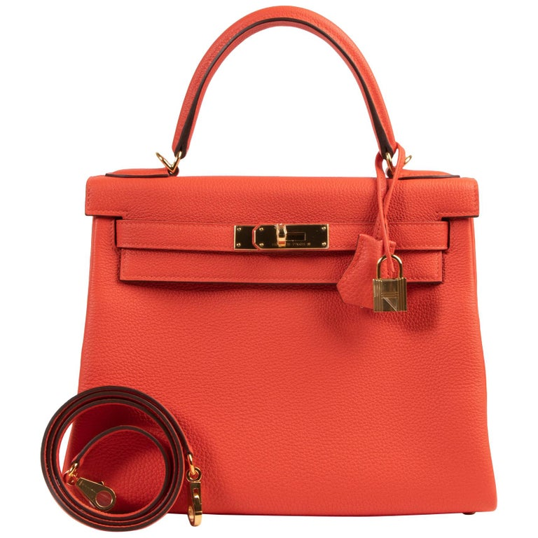 *Never Used* Hermes Kelly 28 TogoCapucine GHW For Sale