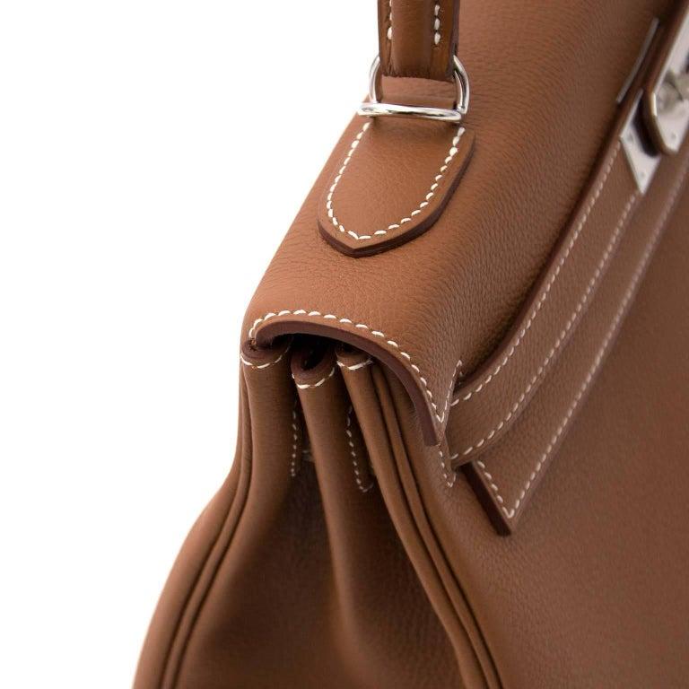 Hermes 32 Togo Gold PHW Kelly Bag For Sale 1