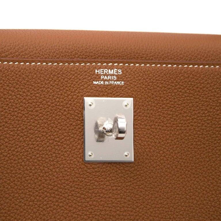 Hermes 32 Togo Gold PHW Kelly Bag For Sale 2