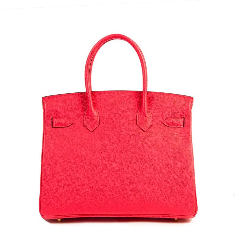 Women's or Men's Never Used Hermes Rose Extreme Epsom Birkin 30 GHW  For Sale