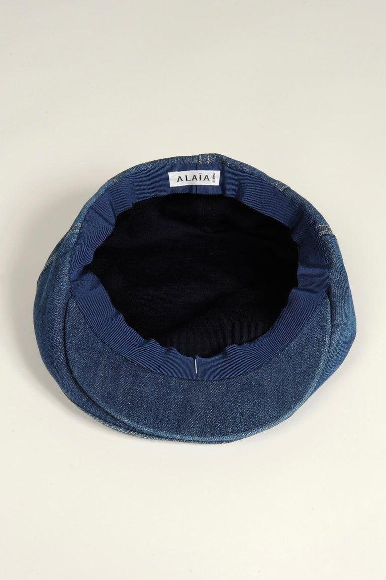 Never Worn Alaïa Denim Cap, Spring-Summer 1991 For Sale 11
