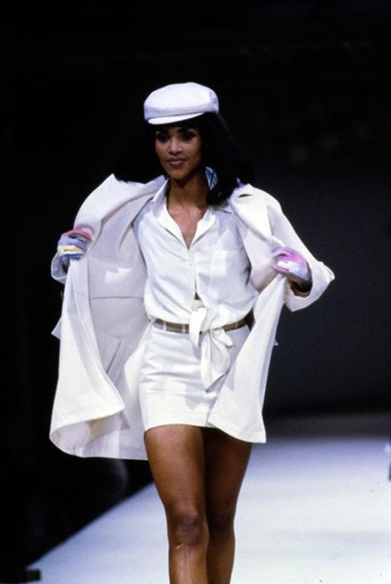 Never Worn Alaïa Denim Cap, Spring-Summer 1991 For Sale 1