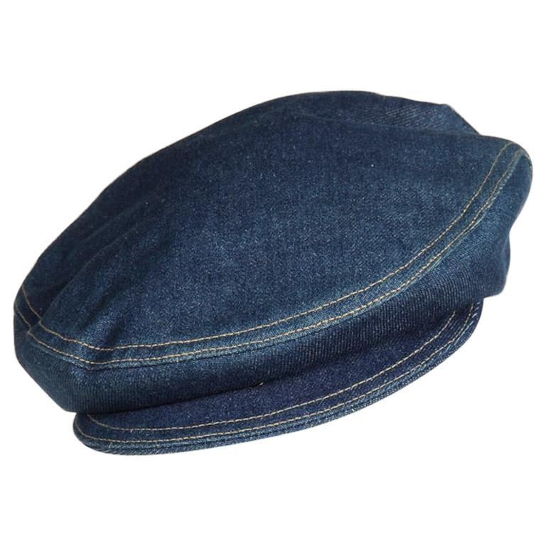 Never Worn Alaïa Denim Cap, Spring-Summer 1991 For Sale