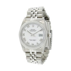 Never Worn Rolex Stainless Steel Oyster Perpetual Datejust Watch