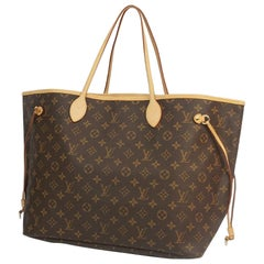 Louis Vuitton Neverfull GM  Womens  tote bag M40157  brown
